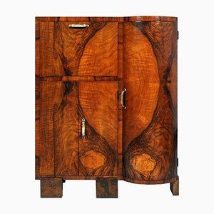Armario Art Déco de madera nudosa y nogal de Osvaldo Borsani, años 30