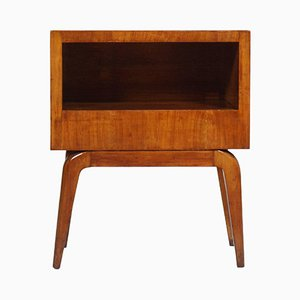 Mid-Century Modern Cherry Wood Bedside Table