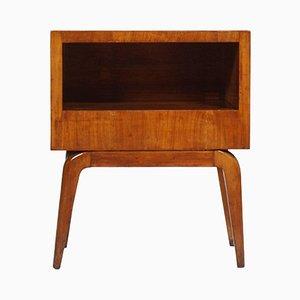 Table de Chevet Mid-Century Moderne en Merisier