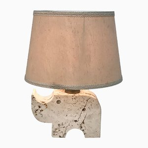 Travertine Rhinoceros Table Lamp by Fratelli Manelli, 1970s
