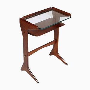 Table Console Mid-Century Moderne en Acajou par Cesare Lacca