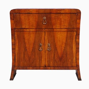 Italian Art Deco Bar Cabinet in Walnut, 1930s