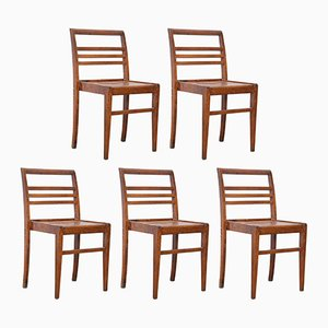 Chairs by Rene Gabriel, 1940s, Set of 5