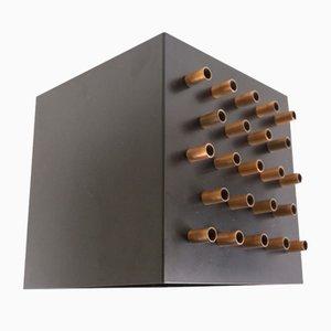 Clair-Obscur Wandlampe aus Metall & Kupfer von Raak, 1960er