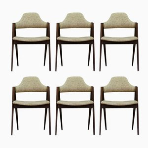 Vintage Compass Chairs by Kai Kristiansen, Set of 6