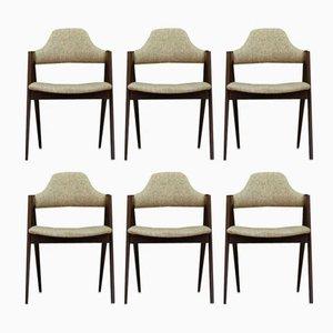Vintage Compass Chairs von Kai Kristiansen, 6er Set