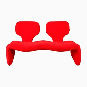 Red Djinn Sofa by Olivier Mourgue for Airborne, 1960s