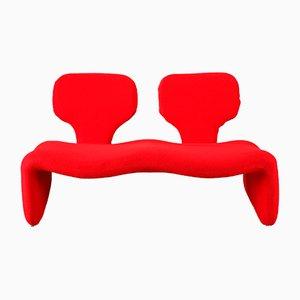 Rotes Djinn Sofa von Olivier Mourgue für Airborne, 1960er