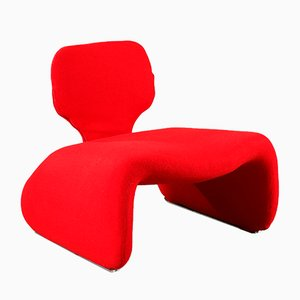 Red Djinn Chair by Olivier Mourgue for Airborne, 1960s