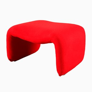 Red Djinn Ottoman by Olivier Mourgue for Airborne, 1960s
