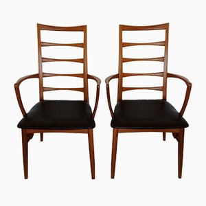 Lis High Back Armchairs by Niels Koefoed for Koefoeds Møbelfabrik Hornslet, Set of 2