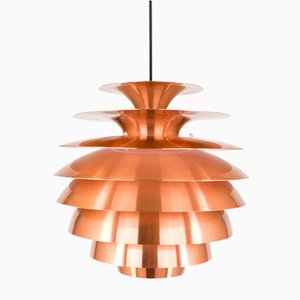 Copper Barcelona Pendant with Multiple Shades from Lyfa, 1970s