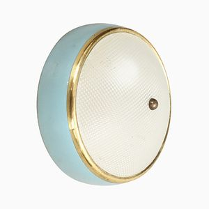 Metal & Brass Ceiling or Wall Lamp, 1950s