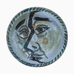 Plato decorativo Mid-Century de Phillip H. Paradise, años 50