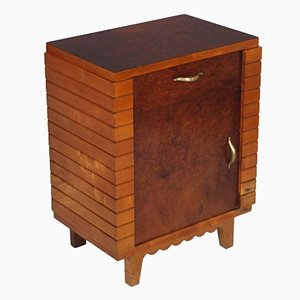 Art Deco Walnut Nightstand, 1950s