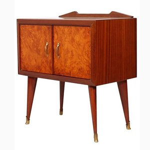 Mid-Century Rosewood & Elm Burl Nightstand by Paolo Buffa, 1940s