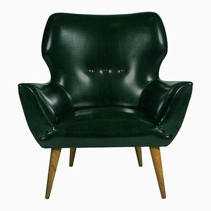 Mid-Century Lounge Chair in Synthetic Upholstery
