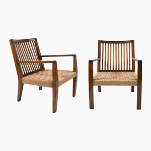 Rope Armchairs, 1940s, Set of 2