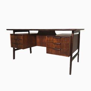 Vintage Danish Model 75 Rosewood Desk from Omann Jun