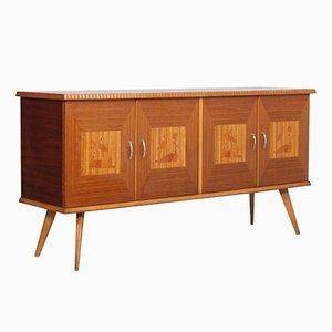 Mid-Century Buffet in Beech & Rosewood Inlaid in Maple