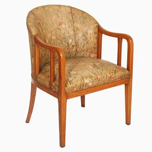 Art Deco French Walnut Armchair