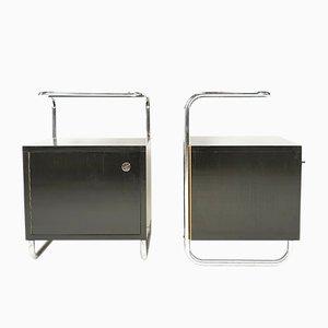 Bauhaus Style Nightsand by Rudolf Vichr for Kovona, Set of 2