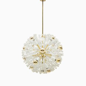 Brass Dandelion Ceiling Lamp by Emil Stejnar for Rupert Nikoll, 1960s