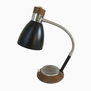 Metal, Chrome & Teak Desk Lamp, 1960s