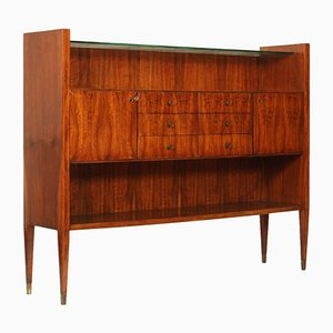 Italian Modern Rationalist Credenza in Rosewood
