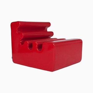 Roter Vintage Karelia Sessel von Liisi Beckmann für Zanotta