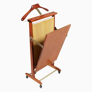 Vintage Italian Servomuto Valet Trouser Press in Walnut by Fratelli Reguitti