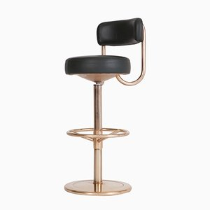 Gold-Plated Jupiter Bar Stools by Börge Johansson, 1970s, Set of 5