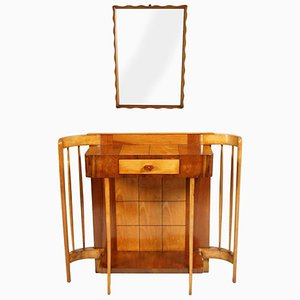 Art Deco Console with Mirror