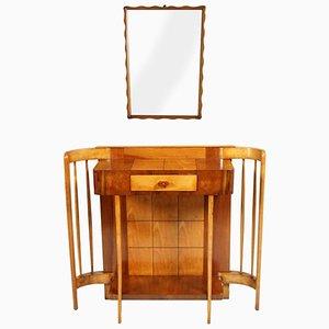 Art Deco Konsole mit Spiegel