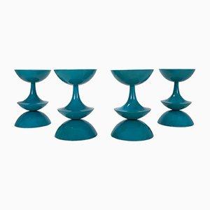 Sgabelli OD5321 vintage color petrolio di Nanna Ditzel, set di 4