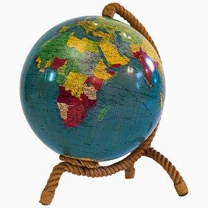 Globe Terrestre avec Structure en Corde par Adrien Audoux et Frida Minet, 1960s