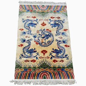 Vintage Chinese Five Dragon Rug