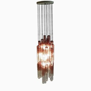 Italian Murano Glass Calze 953 Chandelier by Ludovico Diaz de Santillana for Venini, 1970s