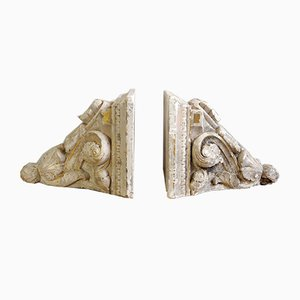 Baroque Plaster Consoles, Set of 2