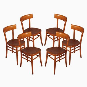 Mid-Century Modern Chairs from ISA Bergamo, Set of 6