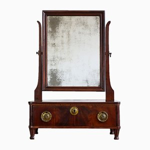 French Louis Seize Mahogany Table Mirror, 1790s