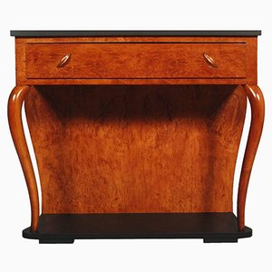 Art Deco Italian Walnut & Walnut Burl Console Table by Gaetano Borsani, 1930s