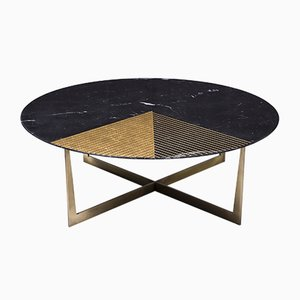 Gold Radius Coffee Table from Alex Mint