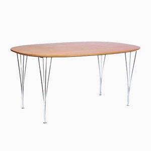 Mid-Century Super-Elliptical B612 Tisch von P. Hein, B. Mathsson & A. Jacobsen für F. Hansen