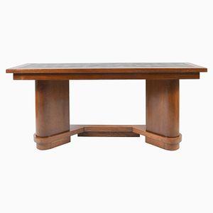Large Oak Console Table, 1940s
