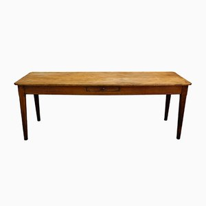 Antique French Tavern Table with Maple Plate