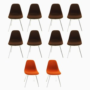 Vintage DSX Chairs by Charles & Ray Eames for Herman Miller, Set of 10