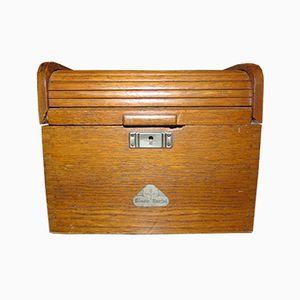 Vintage Tambour Filing Box
