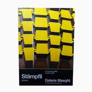 Affiche d'Exposition par Peter Stampfli pour Maeght Gallery, 1980s