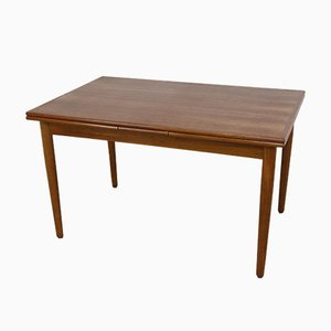 Danish Teak Extendable Modern Dining Table, 1960s